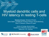 Myeloid dendritic cells and HIV latency in resting T-cells