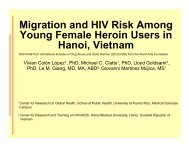 Migration and HIV Risk Among Young Female Heroin Users in ...