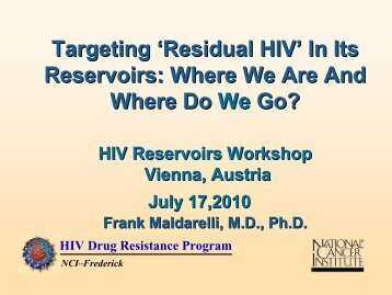 HIV Reservoirs - International AIDS Society