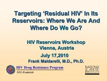 HIV Reservoirs - International AIDS Society