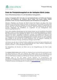 Ende der Parkplatzknappheit an der Asklepios Klinik Lindau