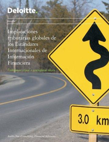 Implicaciones tributarias globales de los Estándares ... - IAS Plus