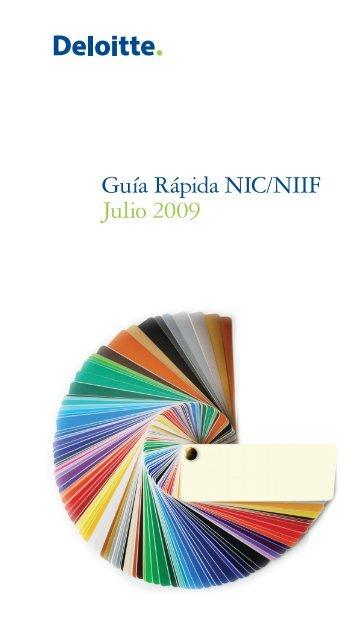 Guía Rápida NIC/NIIF Julio 2009 - IAS Plus