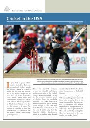 Cricket in the USA - US Department of State