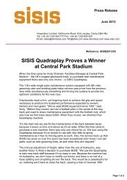 SISIS Quadraplay Proves a Winner at Central Park Stadium - Brintex