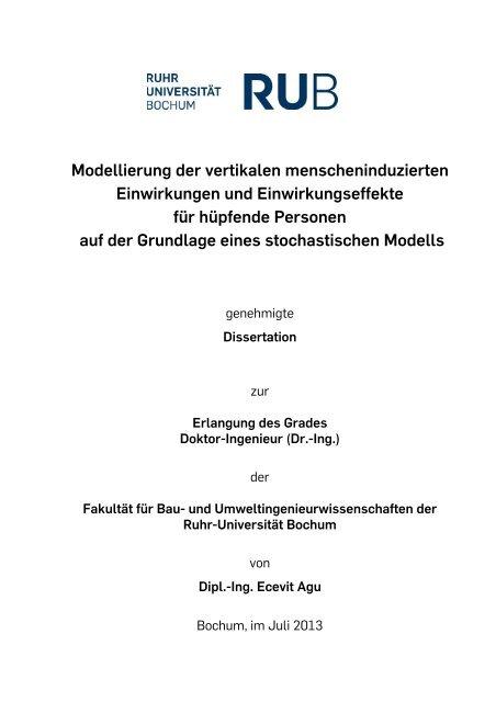 Dipl.-Ing. Ecevit Agu - Ruhr-Universität Bochum