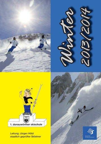 Programmheft 2013 / 2014 - 1. donauwörther skischule im VSC
