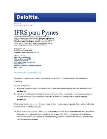 IFRS para Pymes - IAS Plus
