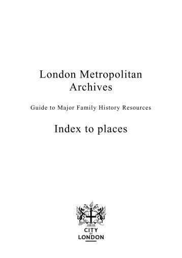 Guide to places in London - the City of London Corporation