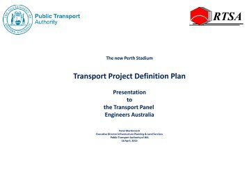Transport Project Definition Plan - Engineers Australia