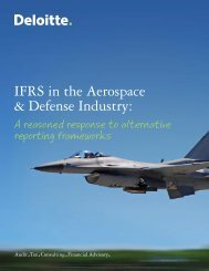 IFRS in the Aerospace & Defense Industry: - IAS Plus