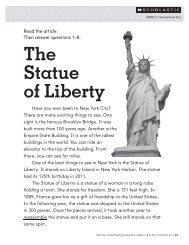 The Statue of Liberty - Scholastic