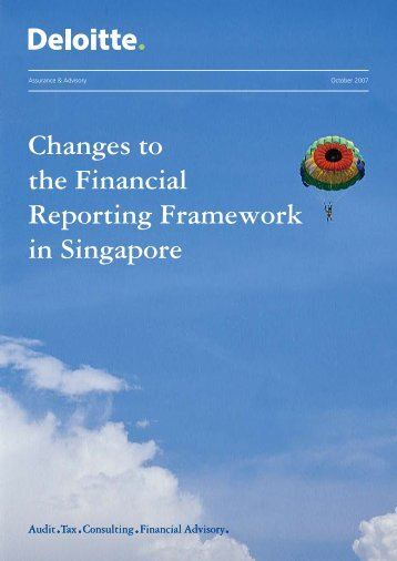Changes to the Financial Reporting Framework in ... - IAS Plus