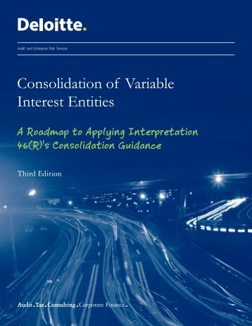 Consolidation of Variable Interest Entities: A Roadmap to - IAS Plus