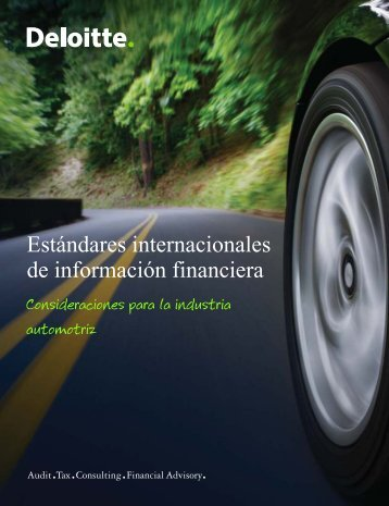 IFRS automotores - IAS Plus