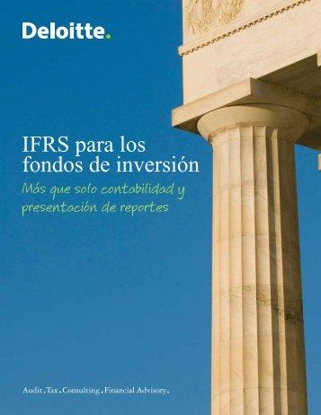 IFRS fondos inversión - IAS Plus