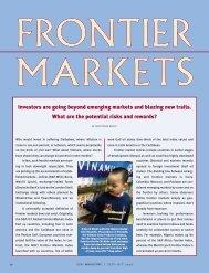 Frontier Markets - CFA Institute Publications