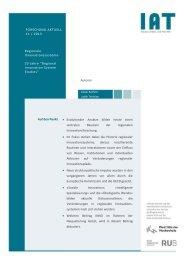 Forschung Aktuell 2013-11 - beim Institut Arbeit und Technik