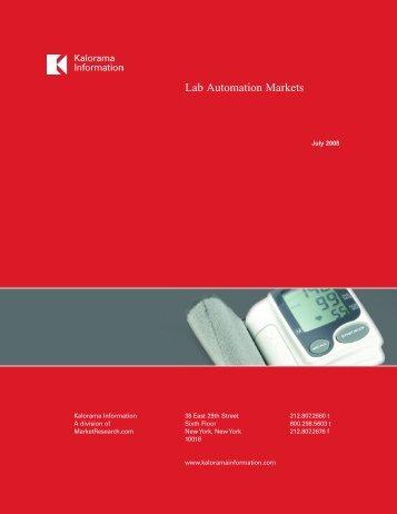 Lab Automation Markets - Iat.uni-rostock.de