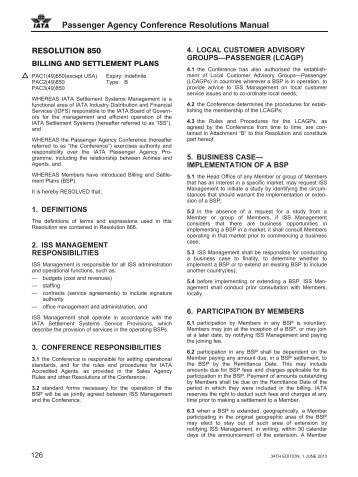Passenger Agency Coonference resolutions Manual, 34th ... - IATA