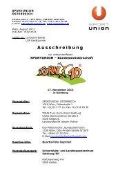 Ausschreibung - SPORTUNION Österreich