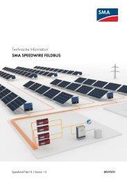 Technische Information - SMA Solar Technology AG