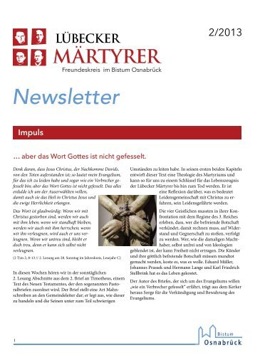 Newsletter 2 - Bistum Osnabrück