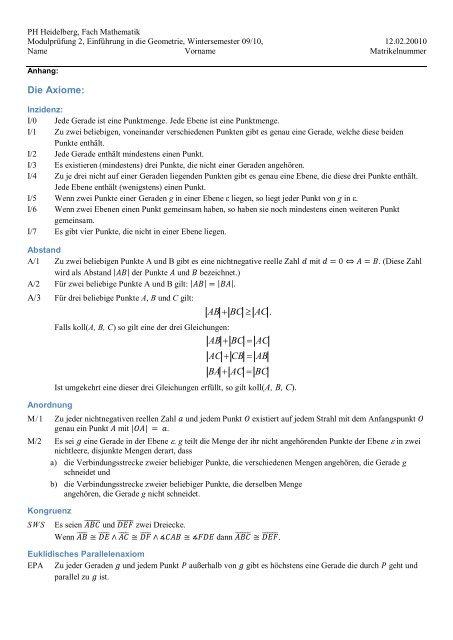 Teilprüfungsklausur WS 9/10 mitLösungen