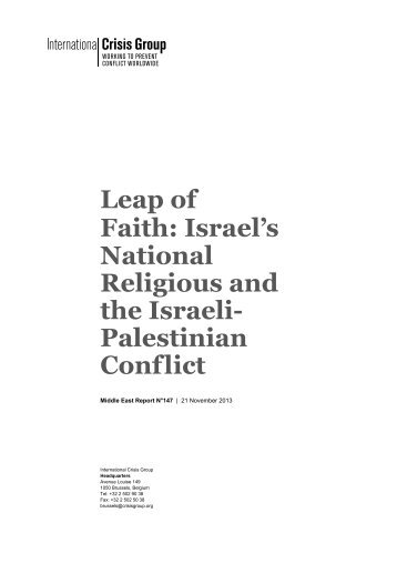 Leap of Faith: Israel's National Religious and the Israeli ... - ReliefWeb