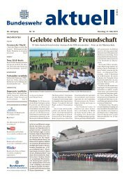 Gelebte ehrliche Freundschaft - Bundeswehr