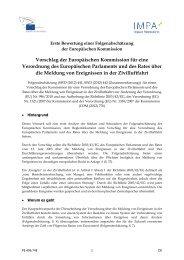 Meldung von Ereignissen in der Zivilluftfahrt: erste ... - Europa