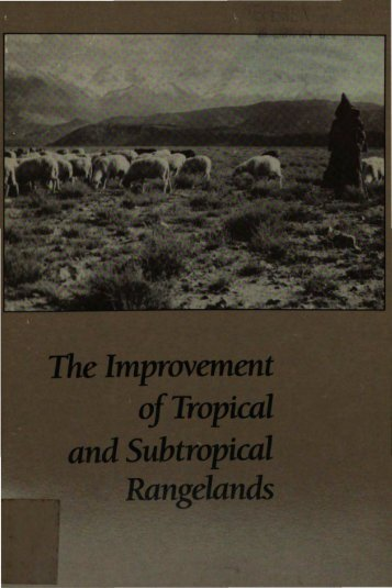 TheImprovement ofTropical and Subtropical Rangelands
