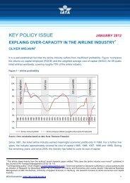 KEY POLICY ISSUE - IATA