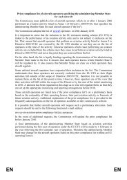 Prior compliance list of aircraft operators specifying the ... - IATA