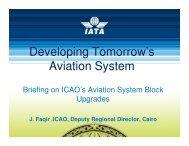 Developing Tomorrow's Aviation System - IATA