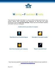 Warning – Fraudulent Emails - IATA