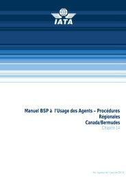 Manuel BSP à l'Usage des Agents – Procédures Régionales ... - IATA