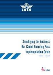 Bar-Coded Boarding Passes (BCBP) Implementation guide - IATA