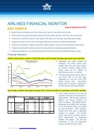 Airlines Financial Monitor - IATA