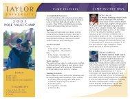 taylor camp features - iatccc