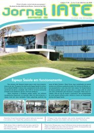 Espaço Saúde em funcionamento - Iate Clube de Brasília