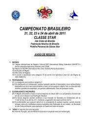 CAMPEONATO BRASILEIRO - Iate Clube de Brasília