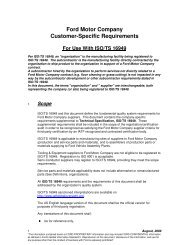 Ford Motor Company Customer-Specific Requirements for use - IATF