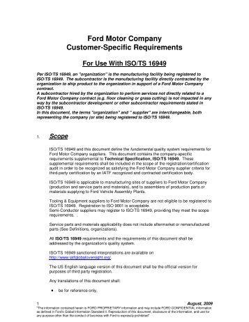 Chrysler for Ford motor customer service