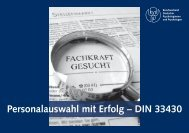 Personalauswahl mit Erfolg – DIN 33430 - BDP