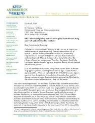 KAW letter to FDA on tiamulin - Keep Antibiotics Working