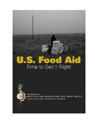 US Food Aid: Time to Get It Right - Institute for Agriculture and Trade ...