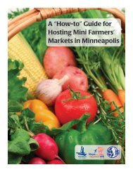 """A """"How-to"""" Guide for Hosting Mini Farmers' Markets - City of ..."""