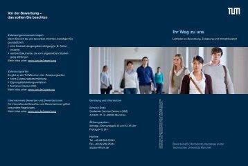 Informationen zu Bewerbung, Zulassung und Immatrikulation - TUM
