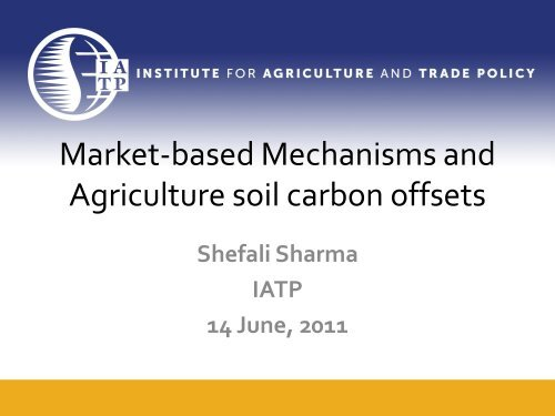 WB/BioCarbon Fund: Kenya Agricultural Carbon Project